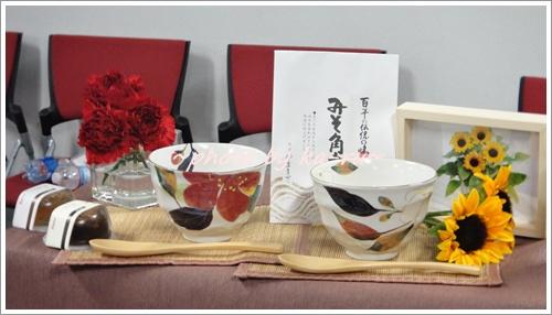 【母父ペアセット】夫婦茶碗で食べる料亭茶漬け&季節の花鉢