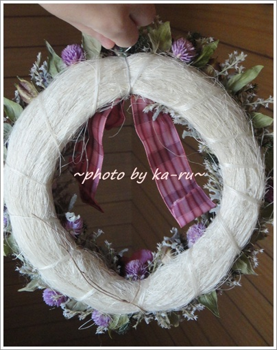 日比谷花壇 ドライフラワーリース「リース ド ロゼ」6