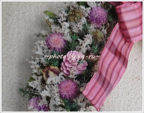 日比谷花壇 ドライフラワーリース「リース ド ロゼ」7