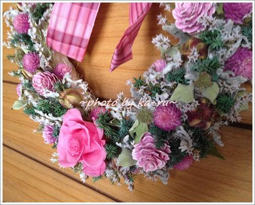 日比谷花壇 ドライフラワーリース「リース ド ロゼ」8