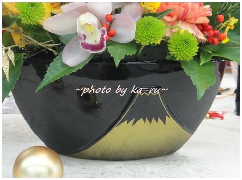 花器が富士山はおめでたいアレンジメント「祝富士」 日比谷花壇
