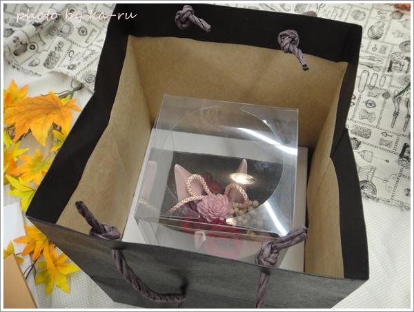 プリザーブド&アーティフィシャルアレンジメント「鶴の舞」手提げ袋・メッセージ台紙付8