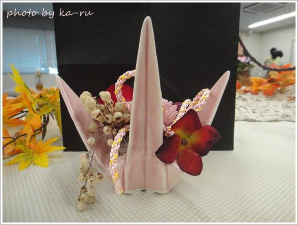 プリザーブド&アーティフィシャルアレンジメント「鶴の舞」手提げ袋・メッセージ台紙付2