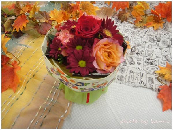 そのまま飾れるブーケ「花結び」2
