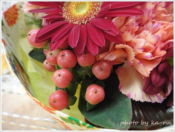 そのまま飾れるブーケ「花結び」4