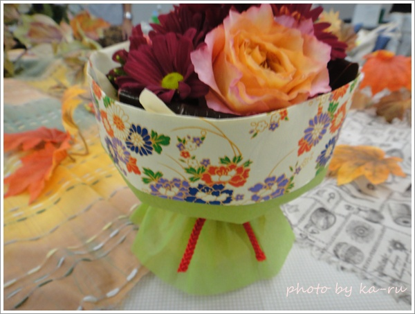 そのまま飾れるブーケ「花結び」3