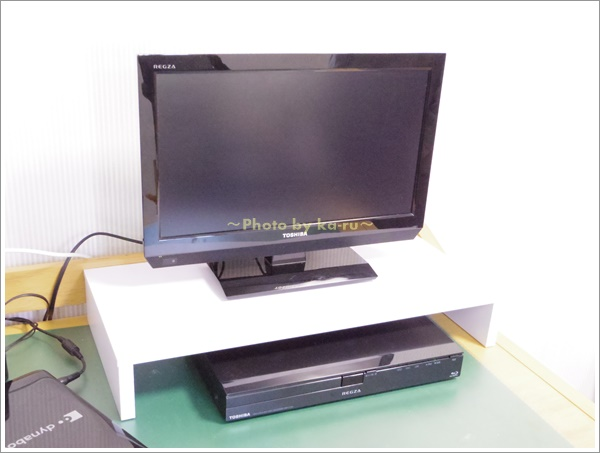 PCモニター台にテレビとブルーレイを置いてみた!