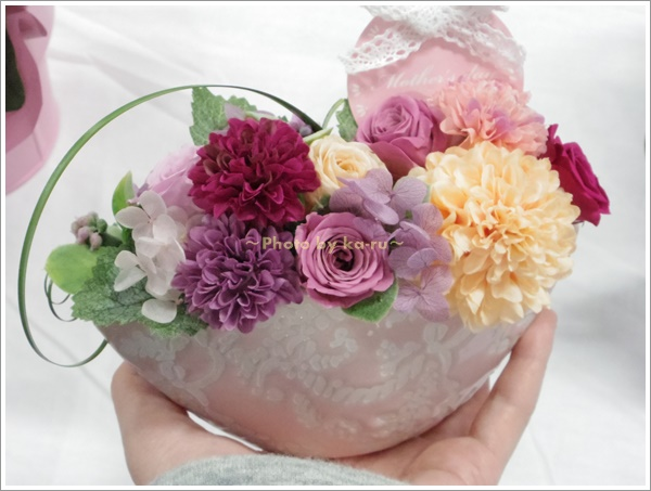プリザーブドフラワー 「フェミニン・マザーフッド~溢れる愛~」4