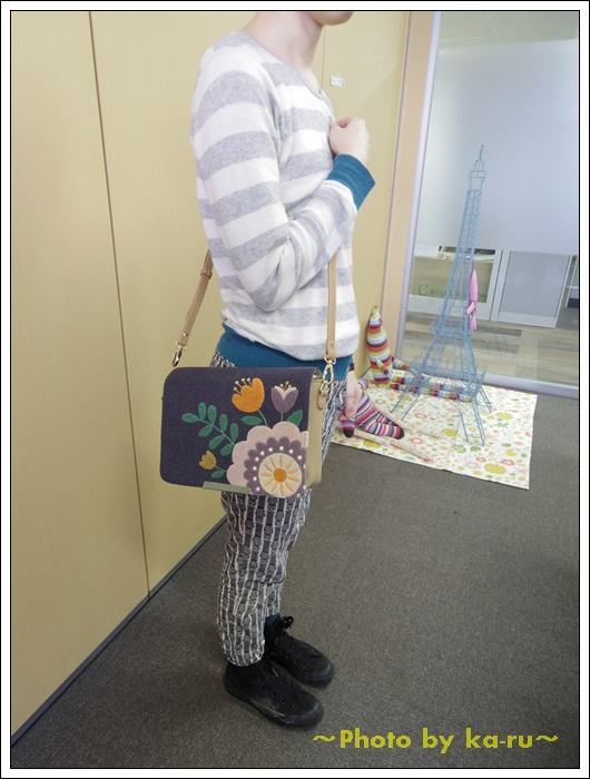 2ウェイサガラ刺繍ショルダーバッグ(mini labo)8