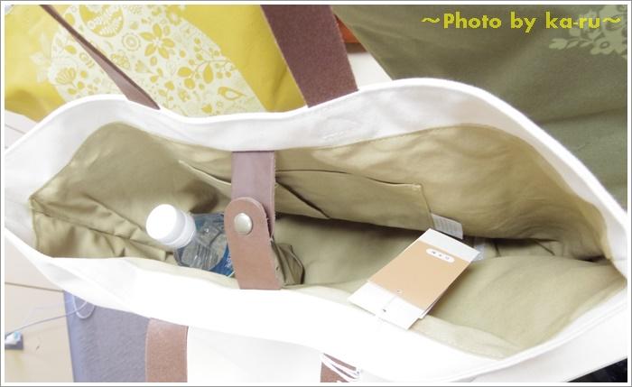 日本製レザー持ち手のキャンバストートバッグ(mini labo)5