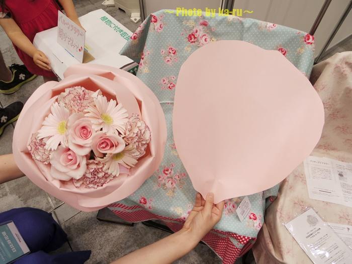 バラの形の花束ペタロ・ローザ 「フェミニンピンク」0001