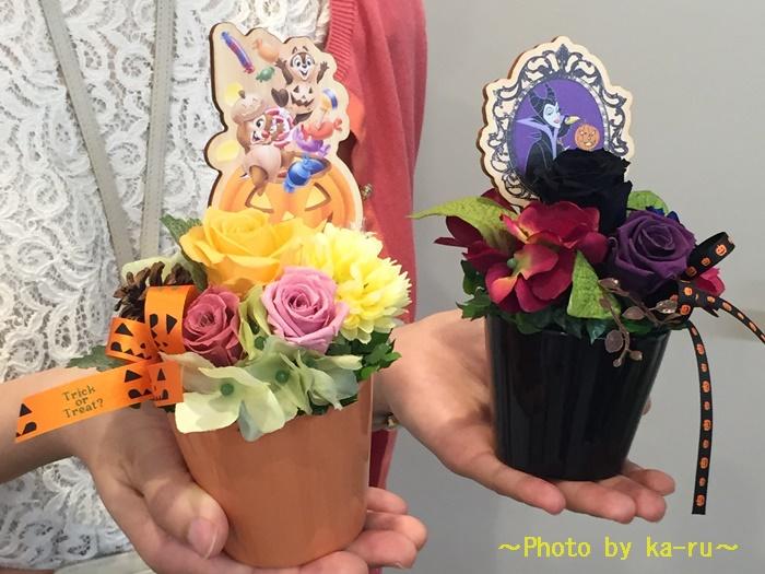 ハロウィンのギフトはディズニーのプリザーブドフラワー 日比谷花壇
