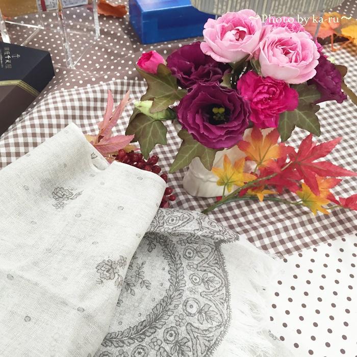 日比谷花壇 UCHINO TOWEL GALLERY「レース麻綿ストールのセット」1