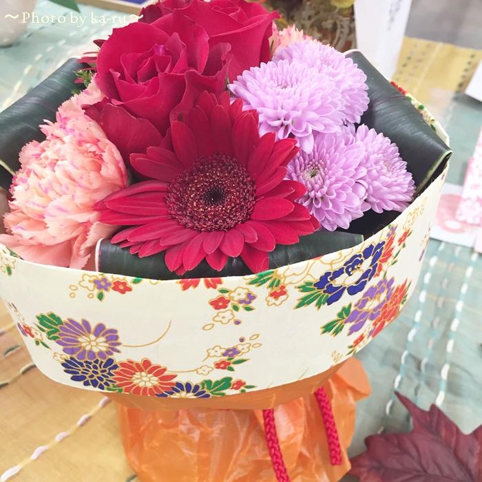 日比谷花壇 そのまま飾れるブーケ「花結び」1