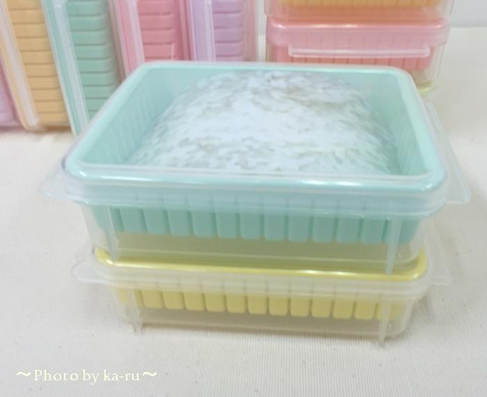 ご飯ふっくら ざるで蒸し器効果を発揮する 冷凍レンジ容器の会9
