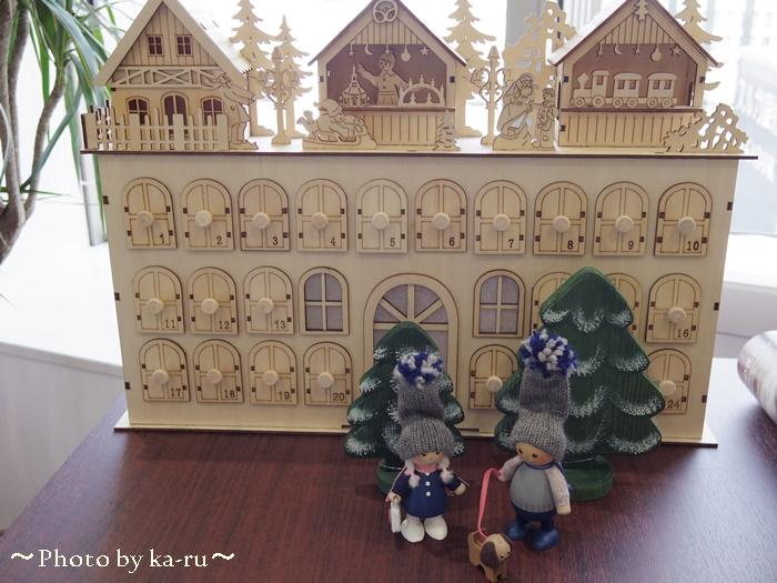 ウッドクリスマスカレンダー クリスマスマーケット1