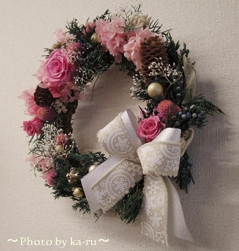 クリスマスリース日比谷花壇