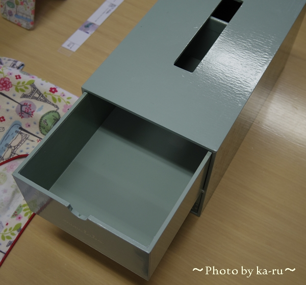ティッシュボックスケース(引出し付き)(mini labo)_4