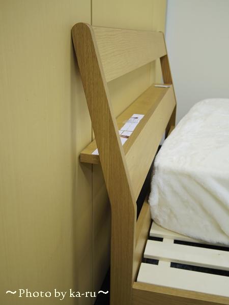 シンプルなデザインがイイ!棚付きシンプルすのこベッド ベルメゾンネット