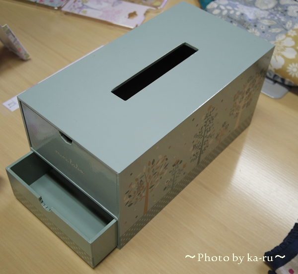 ティッシュボックスケース(引出し付き)(mini labo)_1