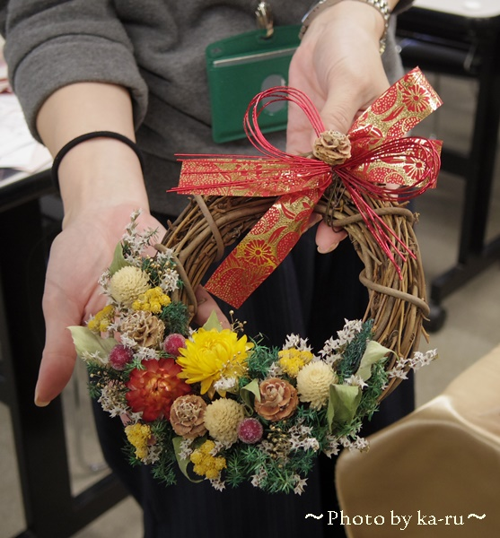日比谷花壇のクリスマスリース 手作りキット お正月も飾れる2WAYリース