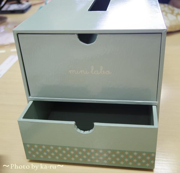 ティッシュボックスケース(引出し付き)(mini labo)_2