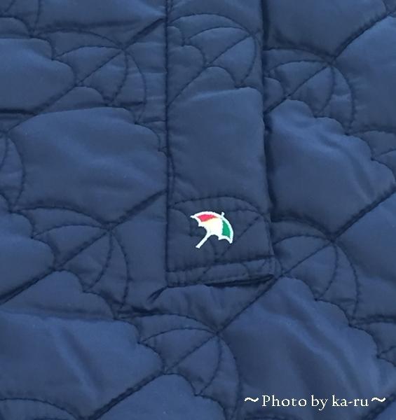 傘のマーク アードルドパーマーキルトフード付きコート5