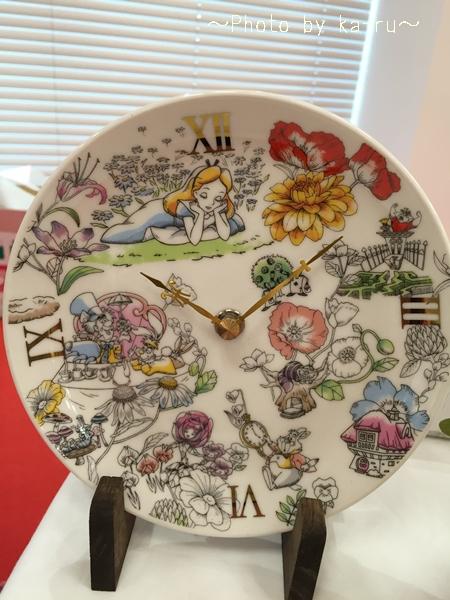 プリザーブドセット「ふしぎの国のアリスの陶時計」e87_4
