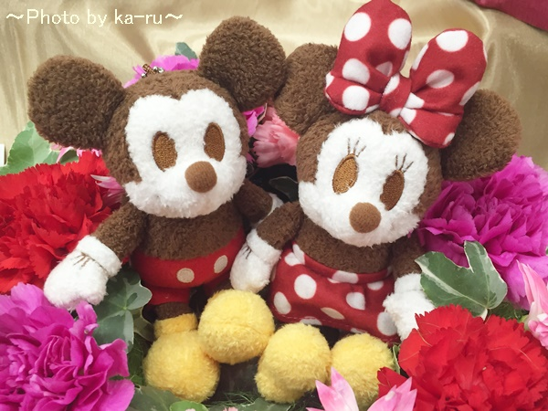 ミッキーとミニーのリース型アレンジメント 母の日にオススメ日比谷花壇