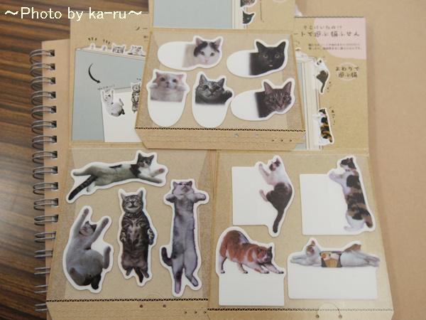 フェリシモ そこにいたの!? ノートで遊ぶ 猫ふせんの会IMGP9318_007