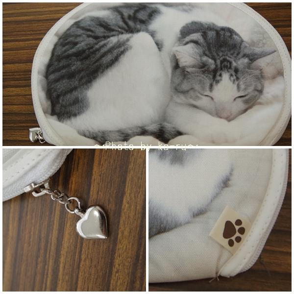 フェリシモ うだまさんちの猫とコラボ パッカーン!っと猫の開きポーチ_3