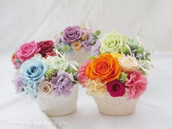5色から選べるプリザーブフラワーはお誕生日プレゼントにオススメ!イイハナ