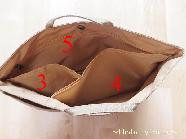 フェリシモ 整とん バッグインポケット_k4