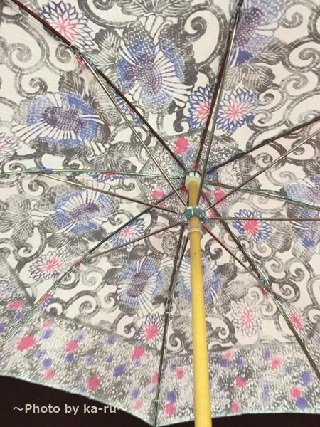 藤本染工芸「型染日傘」の重さ・サイズ 親骨