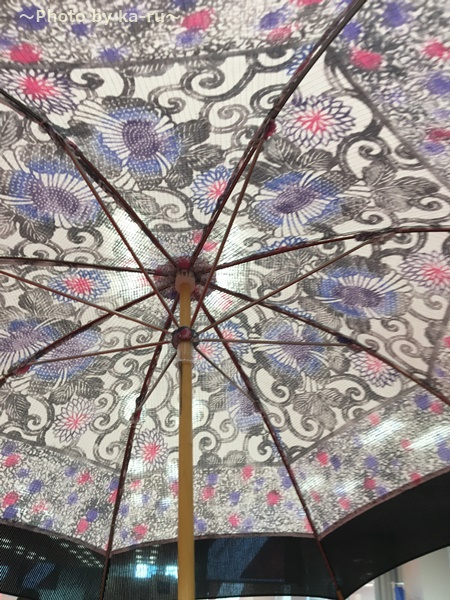 藤本染工芸「型染日傘」の重さ・サイズ UV加工