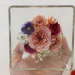 美しいドライフラワーがガラスコレクションで楽しめる!