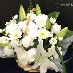 秋のお彼岸にお供えのお花を贈る アレンジメント「ペルラ」