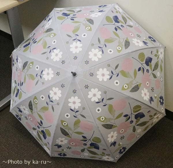 内側に花が咲く雨傘ーベルメゾンネット_K01