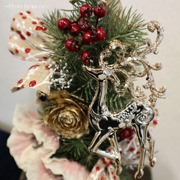クリスマス アーティフィシャル」ツリー日比谷花壇_ゴールド「トナカイ」