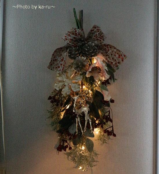 クリスマス アーティフィシャル」スワッグ日比谷花壇_LEDライト