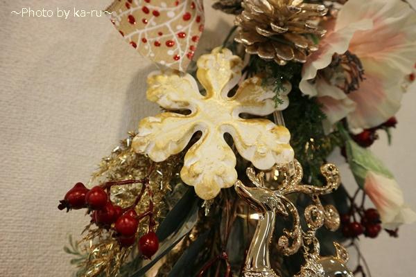 クリスマス アーティフィシャル」スワッグ日比谷花壇_スノーフレーク