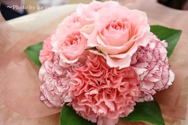母の日 「リバティプリント扇子」と花束のセット_花束