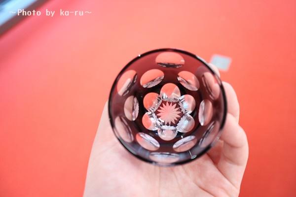 プリザーブドセット「江戸切子ぐいのみ水玉万華鏡」_上からみると万華鏡