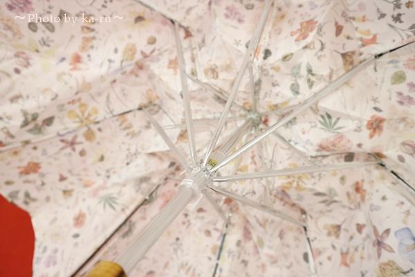 母の日 リバティプリント「日傘」とアレンジメントのセット_傘骨