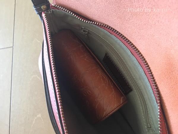 日本製の牛革ショルダーバック三京商会_使ってみた二つ折り財布