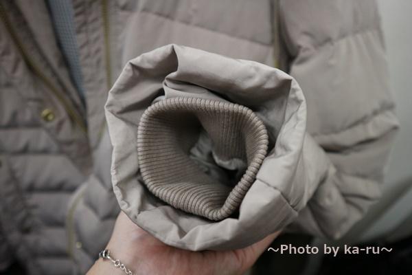 フェリシモ 超ロングダウンコート レディース 袖口が「内側リブの二重構造」