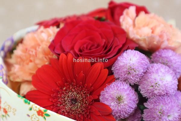 花瓶のいらないブーケ 日比谷花壇 敬老の日 そのまま飾れるブーケ「花結び」 バラ カーネーション