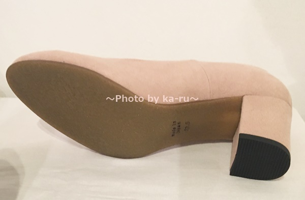 リブ イン コンフォート 撥水(はっすい)ヒールパンプス  靴底
