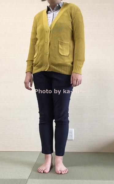 着てみた感想 フェリシモ 伸び軽パンツ 伸びるシャツ 重ね着