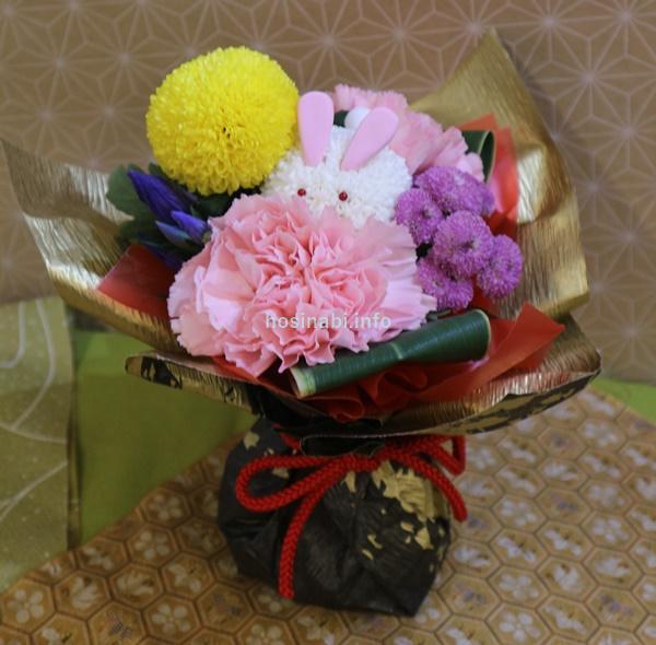 日比谷花壇 敬老の日 お月見 そのまま飾れるブーケ「お月様とうさぎ」